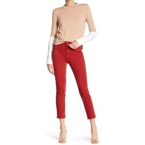 "NWT Veronica Beard Kate 10"" Crop Ankle Jeans Red"